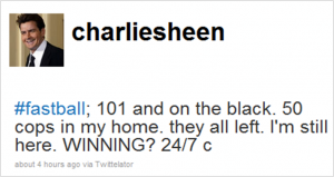 Charlie Sheen på Twitter