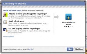 Applikationstilladelser Facebook