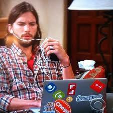Ashton Kutcher på arbejde
