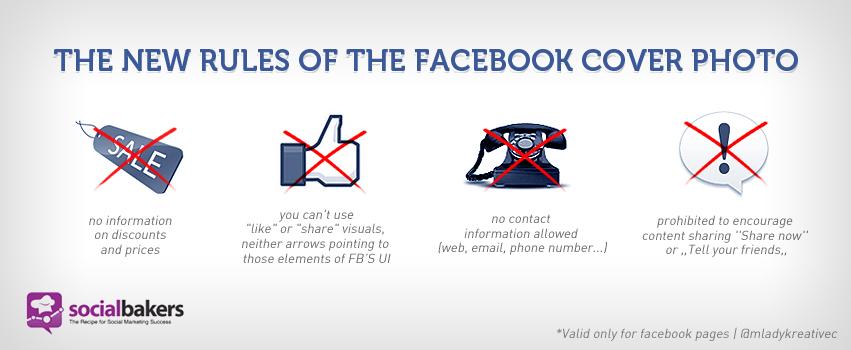 Regler for Facebook cover foto