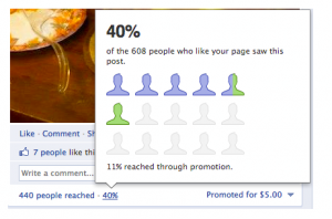 Facebook promoted posts stats