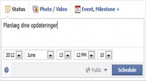 Planlæg dine Facebook opdateringer