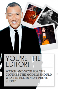 Elle. You're the editor
