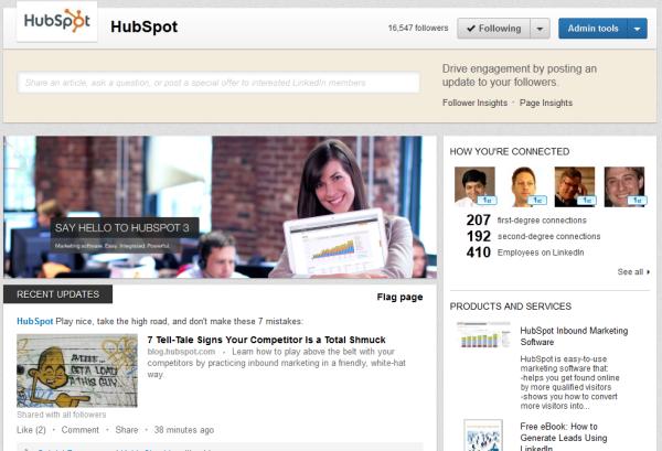 Nyt design til LinkedIn Company Pages