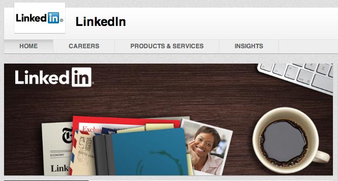 Cover foto på LinkedIn's company page