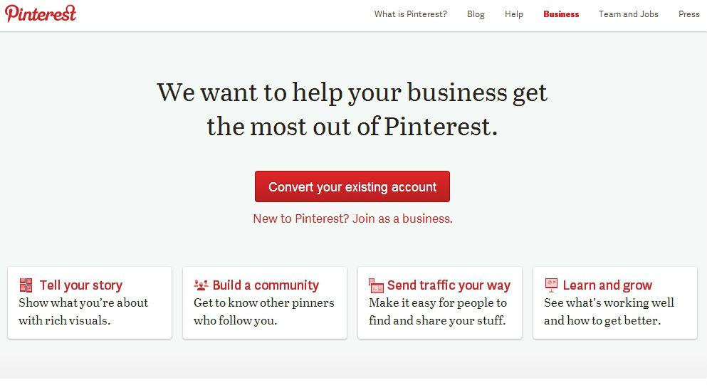 Pinterest for virksomheder