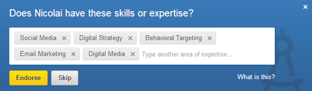 Endorsements af skills