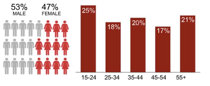 YouTube Demografi Danmark
