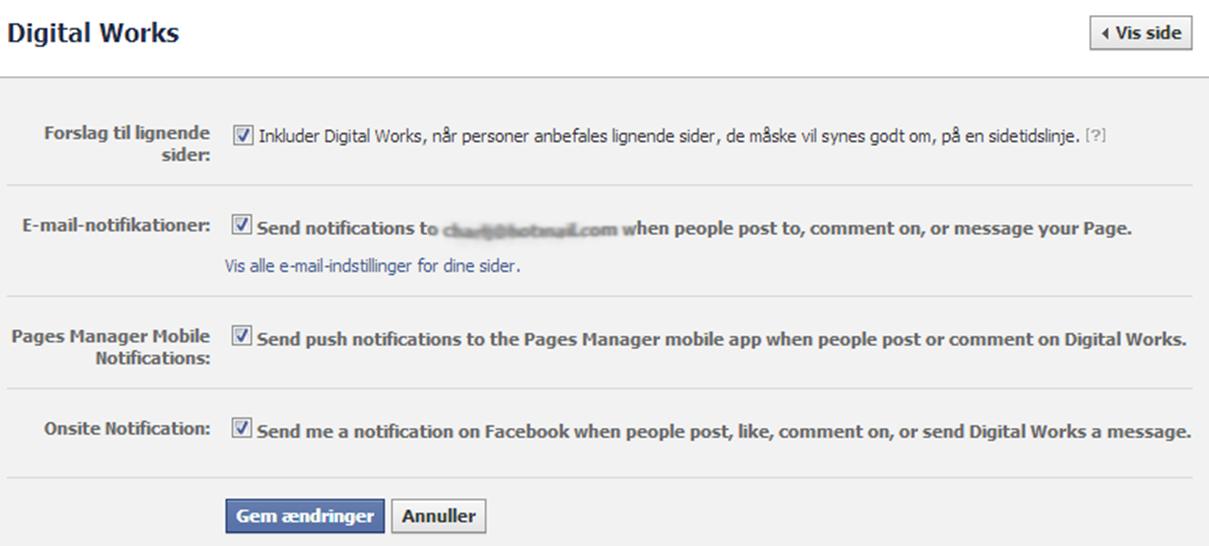 FB notifikationer