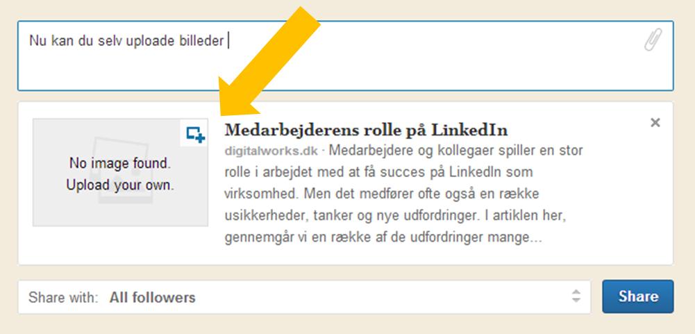Billede LinkedIn updates
