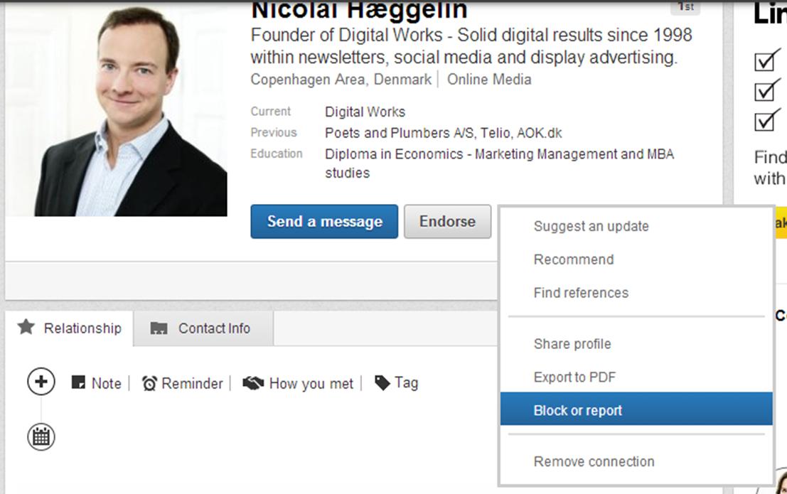 Block LinkedIn member1