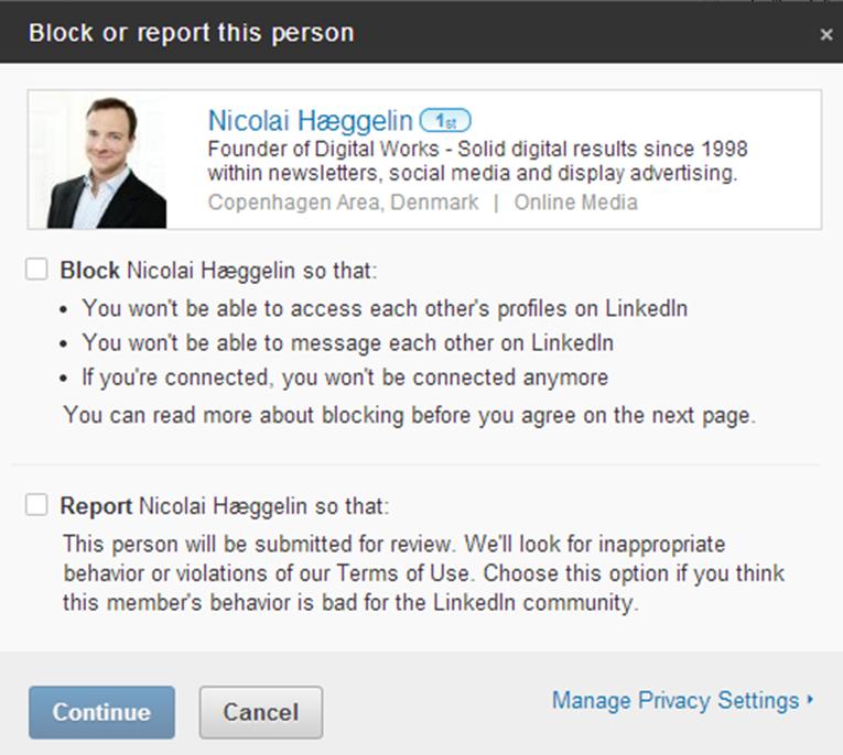 Block LinkedIn member2
