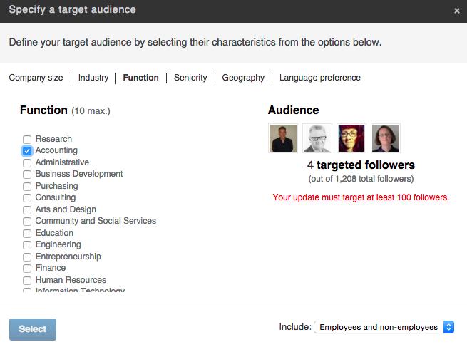 Eksempel på follower analyse - LinkedIn Company Page