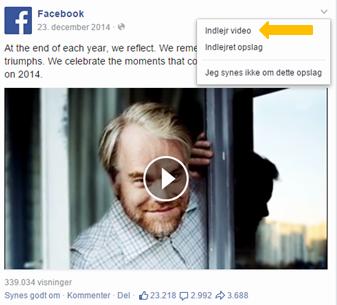 Indlejring af FB video