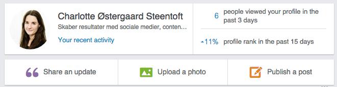 LinkedIn design ændringer
