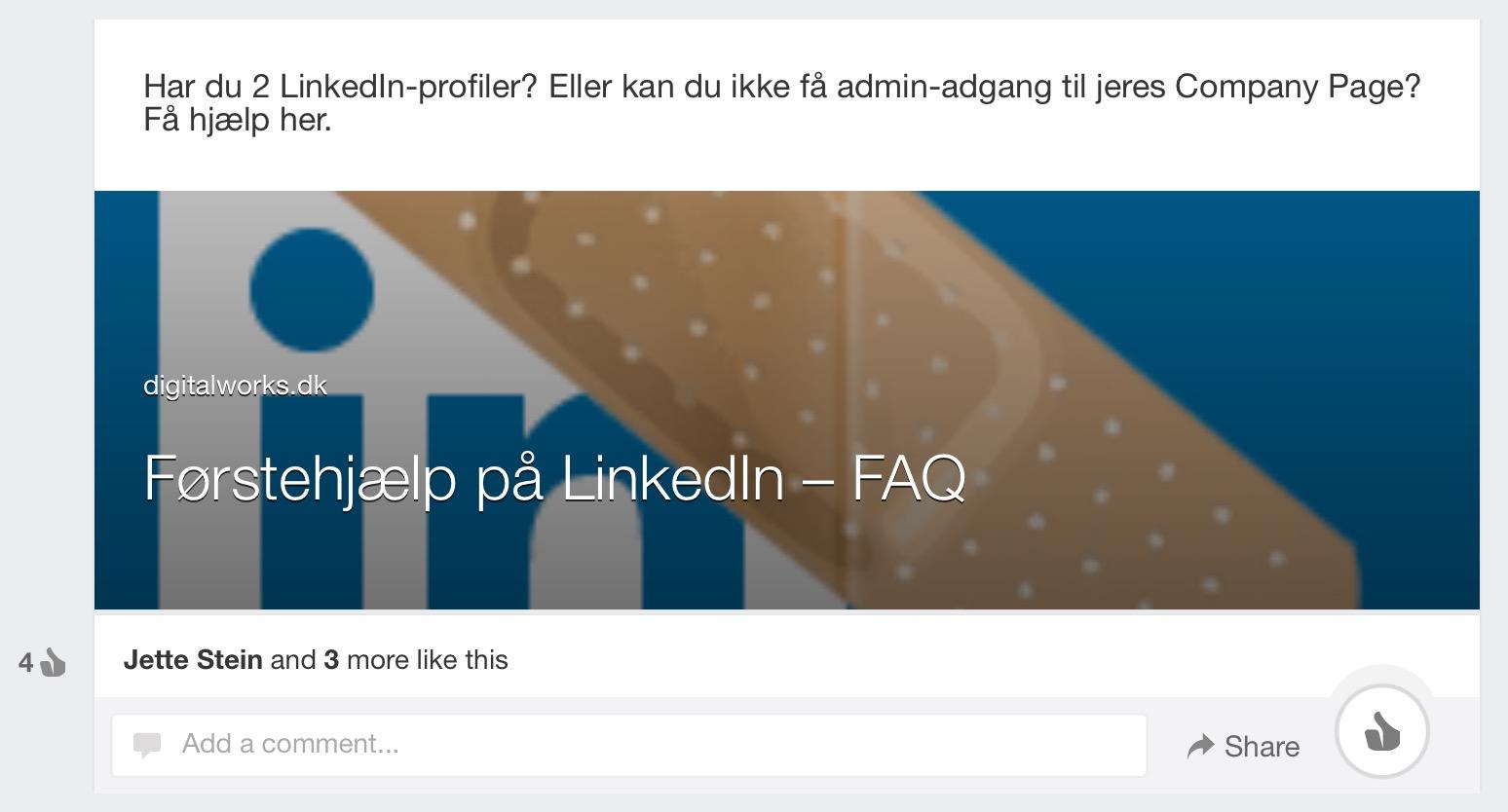 LinkedIn update tablet