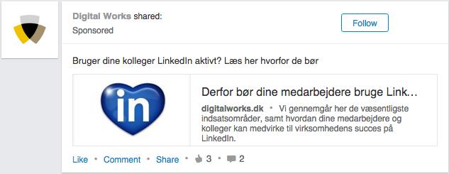 LinkedIn Sponsored Update