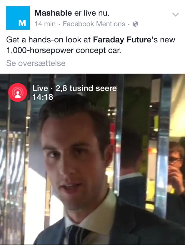 Facebook Live - Mashable