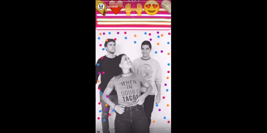 Taco Bells anvendelse af instagram stories