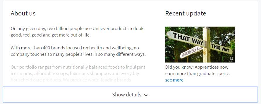 About us - LinkedIn Company Page