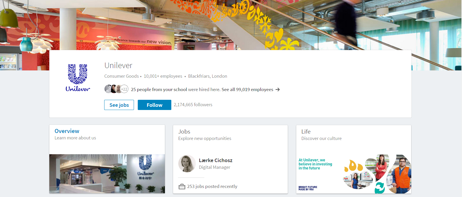 Unilevers company page