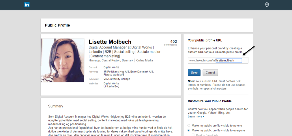 8. linkedin edit your public profile