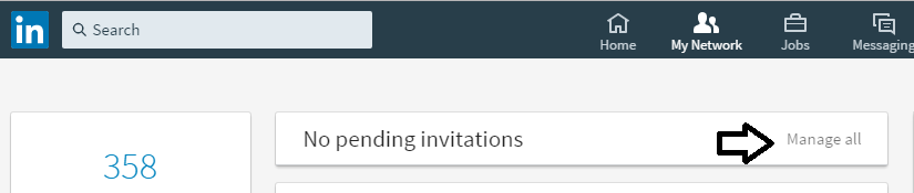 1. sent linkedin invitations
