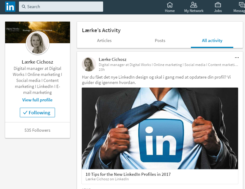 6. see all activity linkedin