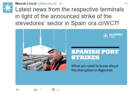 Maersk på Twitter