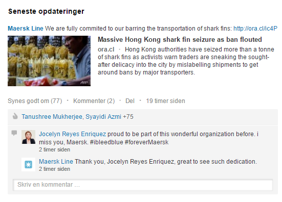 Maersk på LinkedIn