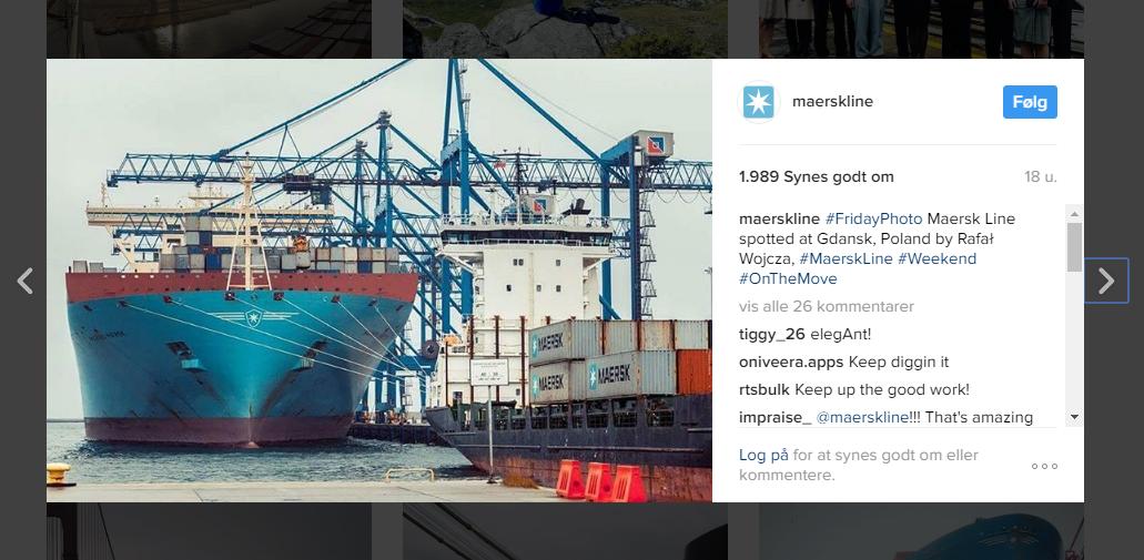 Maersk på Instagram