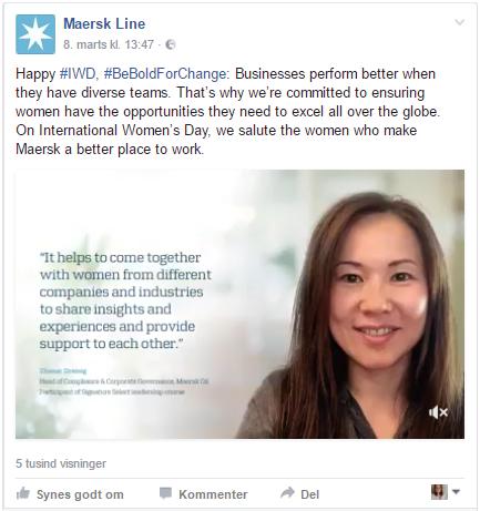 Maersk på Facebook