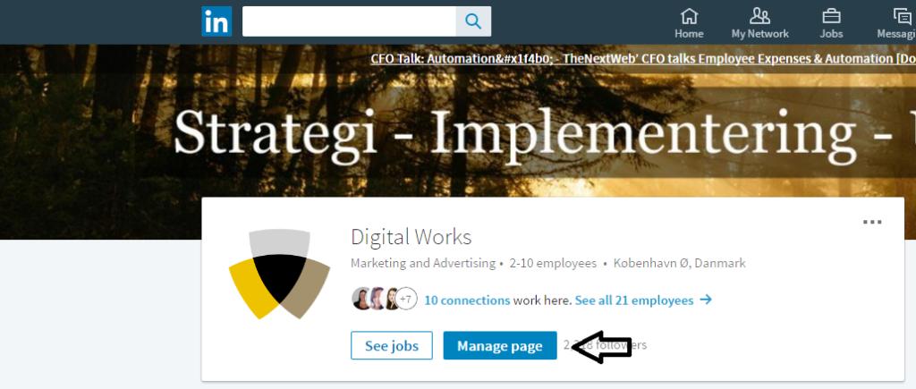 tilgå-fanen-manage-page-linkedin